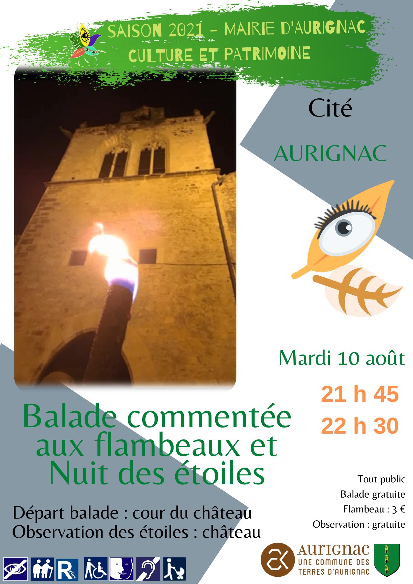 Read more about the article Balade commentée aux flambeaux et Nuit des étoiles – tout public